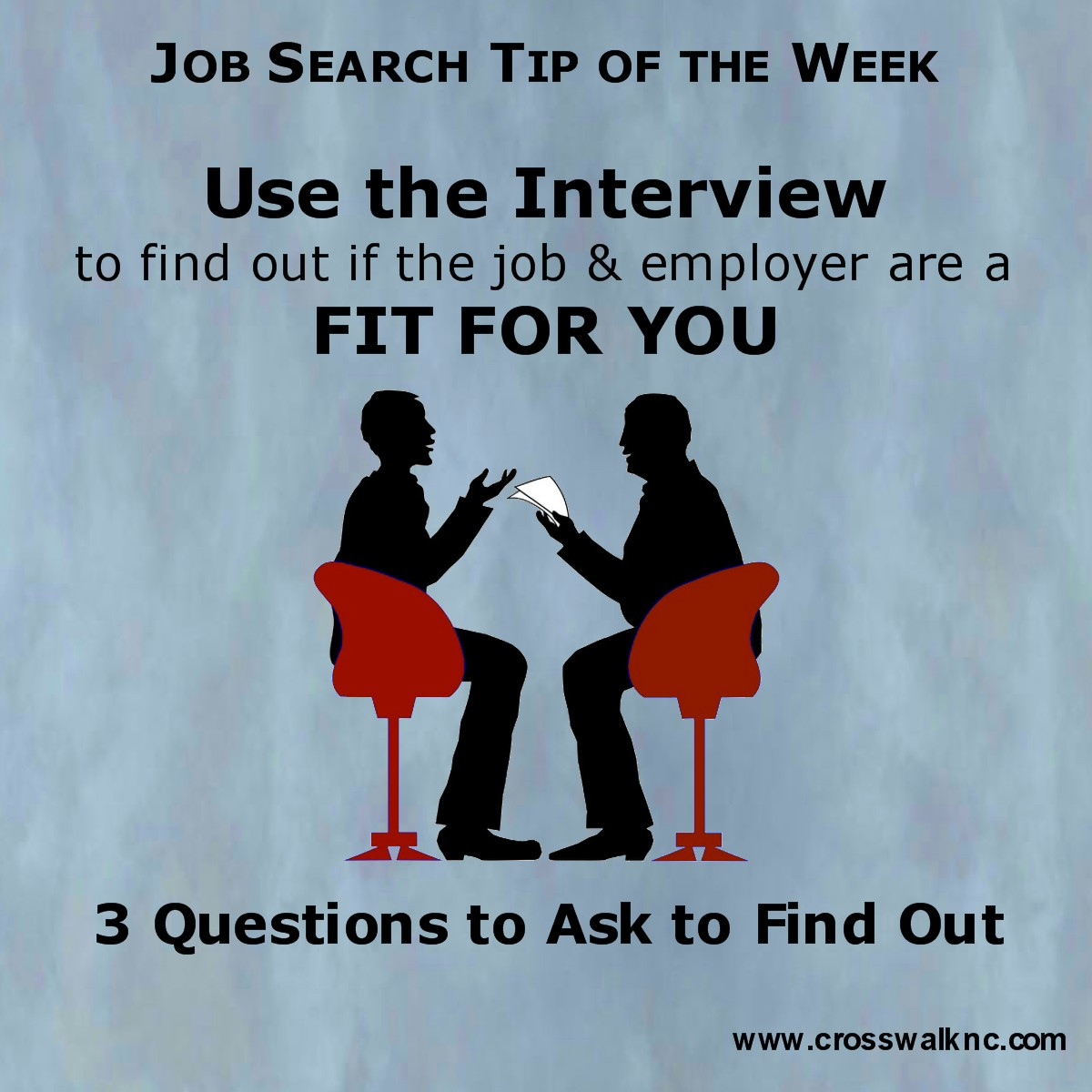 uncategorized as a matter of thought job search tip of the week use the interview to determine if the job department organization are a fit for you